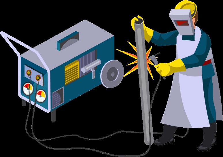 size generator of welder
