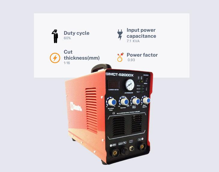 Simadre 5200dx 110v/220v plasma cutter