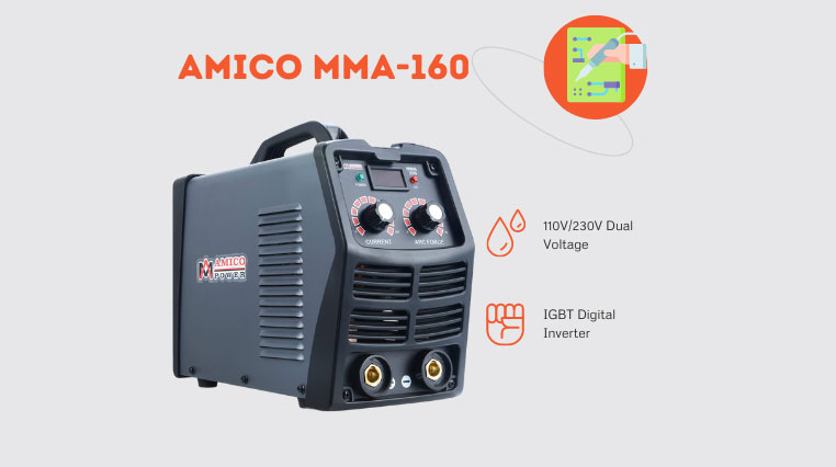 Amico MMA-160 – Best Welder for Exhaust Pipe