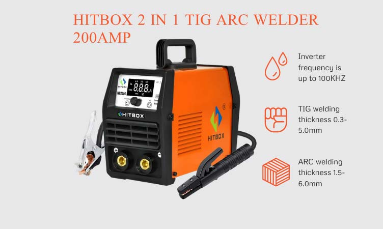 HITBOX 2 in 1 TIG ARC Welder 200Amp