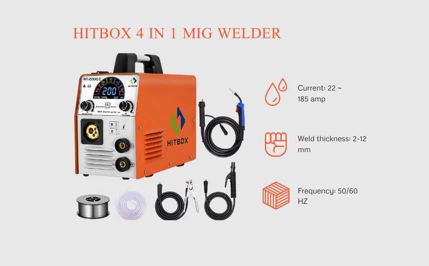 Hitbox 200 amp mig welder