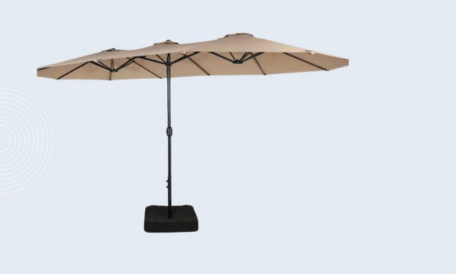Double-Sided Patio Umbrella