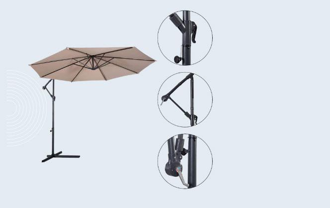Tangkula 10 Ft Patio Offset Umbrella